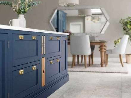 Belgravia (Parisian Blue & Stone) - Kitchen Stori