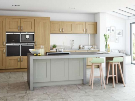 Clonmel (Light Oak & Stone) - Kitchen Stori