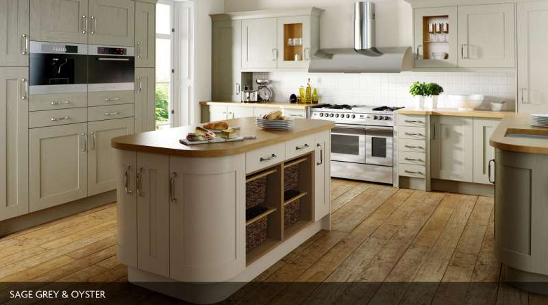 Shaker wood painted for English rose kitchen units